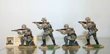 RARE CONTE MIN.  WWII WAFFEN SS FIRING SET. 4 FIGURES  -035  IN BOX