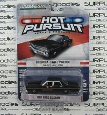 GREENLIGHT 1:64 Hot Pursuit S17 1967 FORD CUSTOM 500 Georgia State Patrol Police