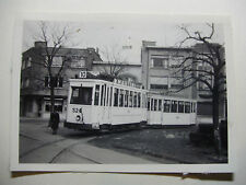B232 - 1950s ANTWERP CITY TRAMWAYS - TRAM No524 PHOTO Belgium