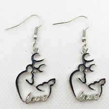 Hot 1 pair blakc Browning Deer Earrings Women Jewelry gift  Dangle Earrings !