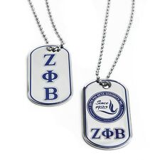 Zeta Phi Beta Sorority Reversible Dog Tag- New!