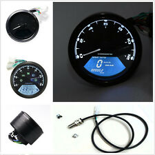 Universal LCD Digital Odometer Motorcycle Speedometer Tachometer Gauge LED New