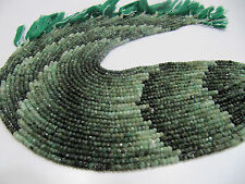 "Natural Emerald Beads, Size 3mm, Strand of 13.5"" Long,Precious Stones, Free Ship"