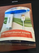 Newest! Manhattan 506731 Usb 2.0 To Fast Ethernet Adapter Networking