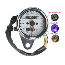 New LED Backlight Motorcycle Dual Odometer Speedometer Gauge For Harley-Davidson