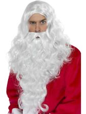 Father Christmas Deluxe Long Santa Claus Wig & Beard Set by Smiffys New #38317