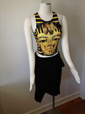 Pure Hype Gold Egyptian print top BNWT size M