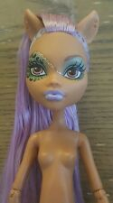 Nude Monster High Doll 2012 Ghouls Rule Clawdeen Wolf Purple Hair Gloved Hands