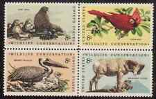 Scott # 1464/7...8 Cent ..25 Blk of 4  In Order...Wildlife... 100 Stamps