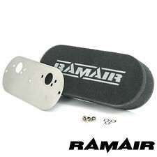 RAMAIR Twin Carb Air Filters With Baseplate Mini 2 x SU HS4 40mm Bolt On