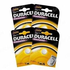 4 BATTERIES CR2025 / DL2025 DURACELL 3V LITHIUM DLC 2021