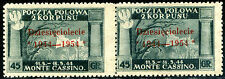 Corpo Polacco 1954 Governo di Londra n. 4 coppia - misure diverse (m948)