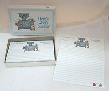 Boxed Lot of Vintage Recipe Cards Grandma's Wood Cooking Stove w Kitten   T58