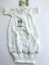 NEW BABY YAYA 3 6 MO. ORGANIC GAUZE COTTON SUMMER INFANT SACK BOUTIQUE DRESS NWT