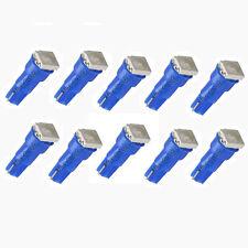 10xAmpoules Voiture Veilleuse Bleu T5 5050 SMD Tableau Bord Compteur Lampe Bulb
