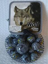 Wolf-Net Bag Of 24 Player Mega Marbles & 1 Shooter-Instructions & Facts