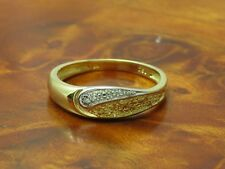 18kt 750 GOLD RING MIT DIAMANT BESATZ / GOLDRING DIAMANTRING