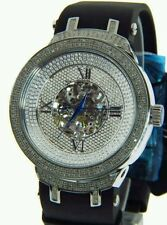 Men's Joe Rodeo Diamond stainless steel perpetual watch black brown grey bands