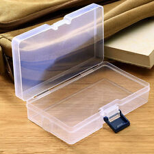 Plastic Transparent Storage Box Jewelry Craft Nail Art Beads Container Organizer