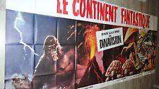 LE CONTINENT FANTASTIQUE ! affiche cinema geante 360x160 jules verne dinosaures