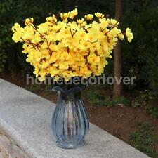 Artificial Cherry Blossom Silk Flower Bouquet Table Arrangement Decor Yellow