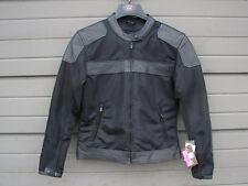 NWT River Road Womens Pecos Classic Leather Mesh Jacket Black Small 093576