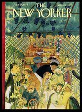 Ludwig Bemelmans restaurant art June 26 1954 New Yorker framing cover