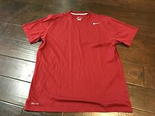 Nike Dri Fit Maroon Athletic Workout Running Shirt - Size Large