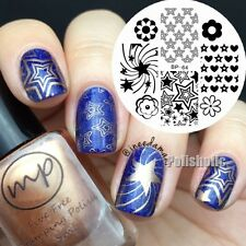 BORN PRETTY Nail Art Stamp Template Star Flower Design Image Stamping Plate BP64