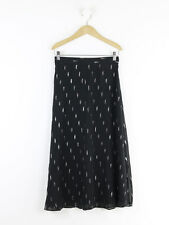 & Other Stories Black Silver Printed Skirt EUR Size 36 (UK Size 10)
