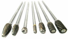 Tungsten Carbide Burr Rotary Files 7pc Extra Long Set Hole Enlarger Bergen 2577