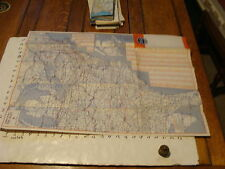 Vintage Travel Paper--MAP 2 MID-ATLANTIC AND THE EAST consolidated tours 1957