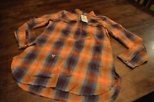 Woolrich Womens Solitude Flannel Shirt Size Medium Color Valencia (Box6)