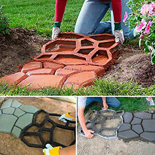 DIY Driveway Paving Pavement Mold Concrete Step Stone Path Walk Maker Moulds