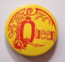 QUEEN Old Vtg 70/80`s Button Pin Badge (32mm- 1.25') not shirt patch cd lp