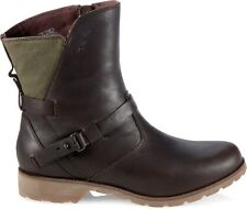 NEW Teva Womens DeLaVina Low Waterproof Leather Ankle Boots, US 6, Brown/Green