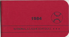 1984 National League Schedule Booklet East & West Teams