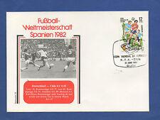 Orig.Ersttagsbrief  WM Spanien 1982  DEUTSCHLAND - CHILE // Spiel 19  !!  SELTEN