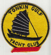 Wartime Japanese Made Tonkin Gulf  Yacht Club Patch / Red Base