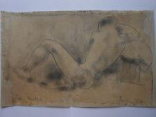 TIBOR GERTLER Ungarn Paris Sitzender Männlicher Akt Male Nude Homme nu Zeichnung