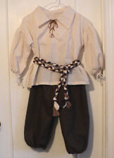 BOY'S RENAISSANCE PEASANT OUTFIT, MEDIEVAL SCA LARP  PIRATE HAND MADE  SIZE 6-8