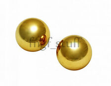 Gold Ben Wa Balls Stainless Steel 1 inch Kegel Exercise Pelvic Tightening Small