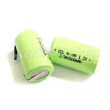 5 pcs AA NiMH 2/3 A 2/3A 1600mAh 1.2V rechargeable battery with tab Green