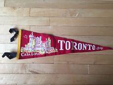 Vintage Toronto Ontario Pennant Felt Banner Canada Souvenir Casa Loma ON
