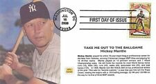 2008 TAKE ME OUT TO THE BALL GAME ~ MPG CACHET ~ FIRST DAY COVER - MICKEY MANTLE