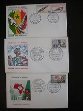 3 ENVELOPPES PREMIER JOUR RÉPUBLIQUE DU SÉNÉGAL Année 1961/1962/1963