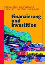 Finanzierung und Investition