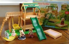 Sylvanian Families Garden Playground set boxed Flair Complete RARE Discontinued