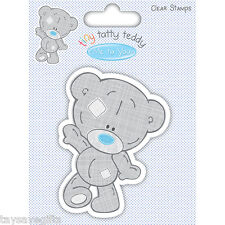 Trimcraft - Tiny Tatty Teddy - clear rubber stamp - Boy - Walking