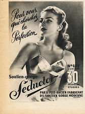 1959 SEDUCTOR LINGERIE Original  Vintage Quarter Page French Magazine Ad